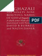 Al Ghazali - The Ninety-Nine Beautiful Names Of God