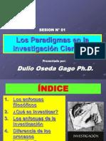 SESION N° 01 - PARADIGMAS DE LA INVESTIGACION