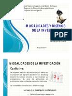Modalidades y Diseños de La Investigación
