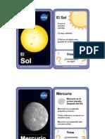 Juego de Tarjetas Del Sistema Solar