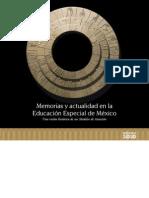 Memorias y Actualidad en La Educacion Especial en Mexico Internet