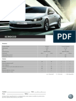 Ficha Técnica VW Scirocco