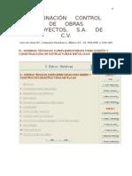 d.- Normas Técnicas Mexicanas