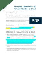 20 Consejos Para Administrar El Email