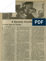 A Dynasty Crumbles