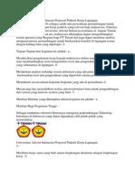 Universitas Advent Indonesia Proposal Praktek Kerja Lapangan