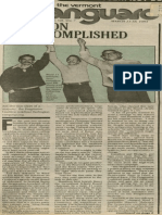 Mission Accomplished | Vanguard Press | Mar. 11, 1984