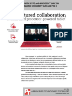 More collaboration with Skype and Microsoft Lync on an Intel processor-powered Microsoft Surface Pro 3