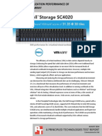 VMmark 2.5.2 virtualization performance of the Dell Storage SC4020 array