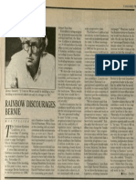 Rainbow Discourages Bernie | Vanguard Press | Dec. 1, 1985