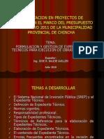 Capacitacion en Proyectos de Inversion en El Marco