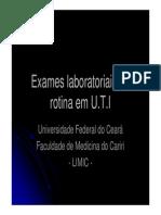Exames Laboratoriais de Rotina Em UTI - Nutricionista