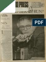 Should Bernie Run? | Vanguard Press | Apr. 6, 1986