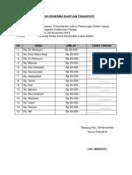 Daftar Penerima Bantuan Transport
