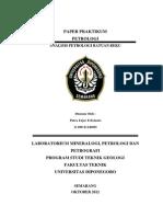 Analisis Petrogenesa Batuan Beku