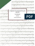 Lenguajes de Programación Para Internet