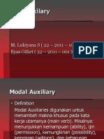 Modal Auxiliary (M.lukiyana.S)