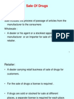 Sale of Drugs
