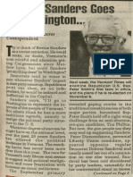 (If) Mr. Sanders Goes to Washington | Vermont Times | Oct. 25, 1990