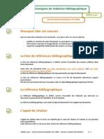 Consignes de Rédaction Bibliographique - IsARA Lyon - 2012-2013