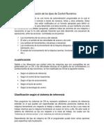 Clasificación de Los Tipos de Control Numérico - Equipo 2 (Hernandez, Aviles, Medina, Tzab)