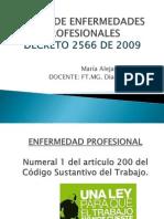 Tabla de Enfermedades Profesionales Salud Ocupacional!
