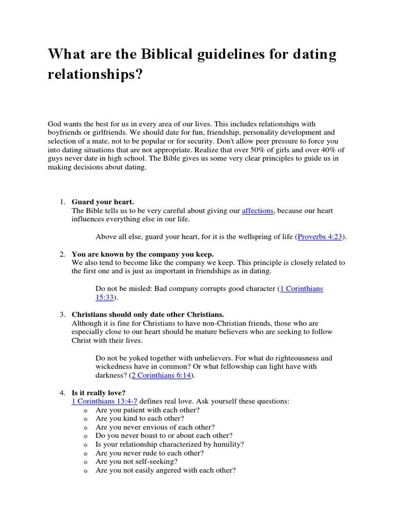 Christian Dating Biblical Principles