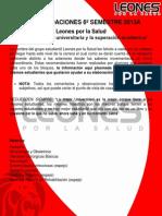 Recomendaciones 6to Semestre - Leones Por La Salud - 2013 a (1)