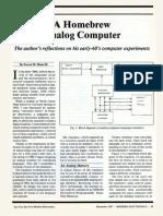 A Homebrew Analog Computer Article