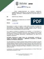 Circular 000014 de 2014 Reporte de Informacion de Aportes Riesgos
