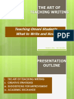 The Teaching of Writing, Nct Cultural Week. Copy 3