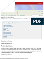 Cantilever Beam - Simulation
