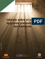 Informe Sobre La Prision Preventiva en Las Americas Por La Cidh