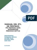 Manual de Pentaho Etl Transformacion