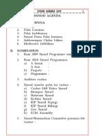 Synod Agenda 2009