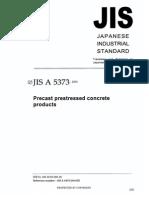 Jis a5373 Precast Prestressed Concrete Products