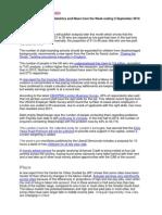 JRF Information Bulletin w/e 5 September 2014
