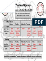 YAJ Timetable Sept-Dec 2014