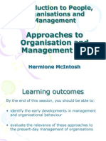 Week 5 Approaches to Organisation and Management (1)