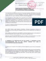 Requête en disqualification - Belo sur Tsiribihina - Saory Christian - Rija Rakotomalala