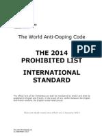 WADA Prohibited List 2014 en (1)