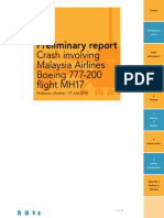 Dutch Safety Board Preliminary Report on MH17 Crash