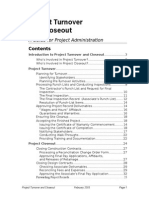 Project Turnover and Closeout