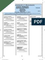 Hamilton and Wenham Republican Primary Ballot 9.9.14