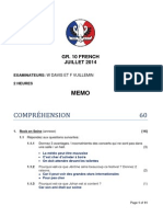 memo gr 10 july exam  2014