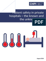 Patient Safety and Private Hospitals. The Known and Unknown Risks
