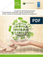 Addressing Social, Economic and Environmental Determinants of Health and the Health Divide in the Context of Sustainable Human Development