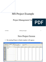 MS Project Example Tutor