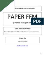 FFM summary notes free version 2013