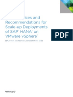SAP HANA on Vmware VSphere Best Practices Guide
